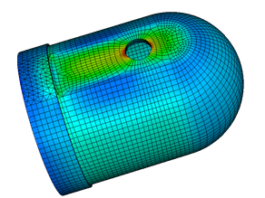 FEA analysis pressure vessel